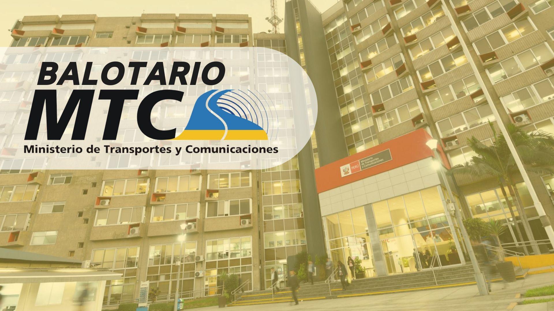 Balotario MTC Perú